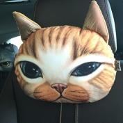 16 Kinds of Optional Creative Funny 3d Printed Lifelike Plush Cartoon Animals Car Headrest Head Pillow Protect Seat Neck Dog/cat/tiger/leopard