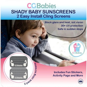 Shady Baby Giraffe Backseat Car Window Sun Shade System - Plus Bonus Stickers, Activity Book and Kids Ebook - 30+ UPF and Glare Protection - Easy to Position or Remove - and CG Babies 100% Risk Free Money Back Guarantee