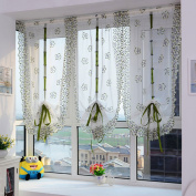 Voberry(tm) Embroidery Roman Voile Sheer Balcony Blinds Living Room Window Curtains