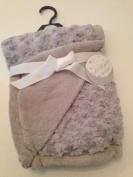 Rose Swirl Baby Blanket Grey