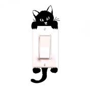 Sandistore Cat Wall Stickers Light Switch Decor Decals Art Mural Baby Nursery Room