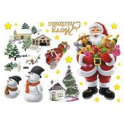 Vktech® Removable Merry Christmas Santa Claus Home Decor Art Vinyl Wall Sticker