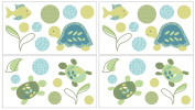 CoCaLo Turtle Reef Wall Decals, Aqua/Green