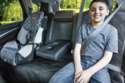 Bench Seat Protector For Up To 3 Seatbelts With Removable Zipper - Catch Crumbs & Spills. Lifelong Promise (Black Zipper). Also Available In Black Bench.