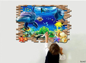 KOREL® Ocean Wall Stickers ~Under Water Sea Wall Decor Decals Stick for Kids Room Walls