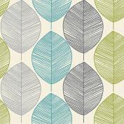 Arthouse Wallpaper Opera Retro Leaf Teal/Green