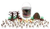 Dinosaur Skeleton Action Figures - Big Bucket of Skeleton Dinosaurs - Huge 75+ Piece Set Full of Fossil Fun