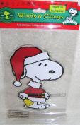 Peanuts Santa Snoopy Jelz Window Clings Christmas Decoration