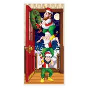 Beistle Christmas Elves Door Cover, 80cm by 13cm , Multicolor