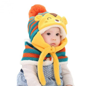 Koly Baby Kids Girls Boys Cute Winter Warm Woollen Coif Hood Scarf Cap Hat