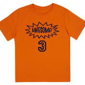 """""""Awesome at 7.6cm - Kids' Unisex Birthday T Shirt Gift"""