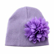 Koly Baby Girls Winter Warm Toddlers Infant Chiffon Flower Headwear Hat