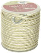Unicord 300150 Gold/White 1cm x 30m Nylon Braid Anchor Line