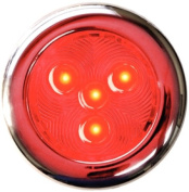 TH Marine LED-51897-DP Puck Light, 7.6cm , Stainless Steel/Red