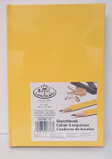 Royal Langnickel Sketchbook 14cm X 22cm 220 pages Yellow HardCover Drawing Book