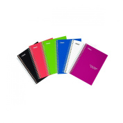 Five Star Spiral Notebooks, College Ruled, 100 Sheets, 18cm x 10cm - 1cm , Assorted Colours, 2 Pack