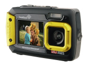 Ivation 20MP Underwater Shockproof Digital Camera & Video Camera w/Dual Full-Colour LCD Displays - Fully Waterproof & Submersible Up to 3m