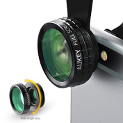 Aukey 3 in 1 Clip-on Cell Phone Camera Lens Kit, 180 Degree Fisheye Lens/ Wide Angle Lens/ 10 X Marco Lens for iPhone 6S, 6S Plus, for for for for for for for for for Samsung Galaxy, Windows, and Android Smartphones