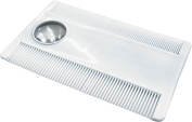Nit Comb, Lice Detection Comb, Dog Comb, Pet Grooming Comb, with Magnifier, Plastic