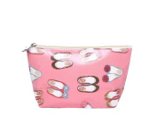 Pink Ballet Shoes Waterproof Make Up Cosmetic Bag Pencil Case