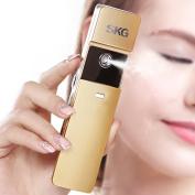 SKG Premium Handheld Nano Ionic Cool Mist Face Sprayer - 10x More Effective Than Facial Mask - Portable Face Hydration Spray Facial Cooling Spray - USB Rechargeable Face Mist Sprayer Facial Moisturiser - Facial Toner Spray Facial Mister - Moisturising ..