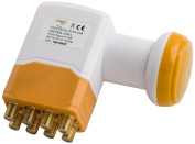 Golden Media High Gain Universal Octo LNB with Gold-Plated Contacts Full HD, 4 K