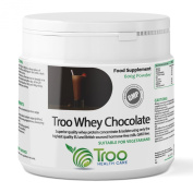 Troo Whey Protein Powder 600g Chocolate - Blend of Whey Concentrate and Isolate from Hormone Free British and EU Milk - UK Manufactured GMP Guaranteed Quality