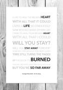 Avenged Sevenfold - So Far Away - Funky Lyric Art Print - A4 Size