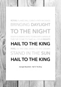 Avenged Sevenfold - Hail To The King - Funky Lyric Art Print - A4 Size