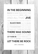 AC/DC - Let There Be Rock - Funky Lyric Art Print - A4 Size