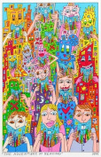 James Rizzi Adventure Reading Of The 2D Farblitohgraphie Poster Print.