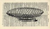 VINTAGE AIRSHIP ART PRINT - STEAMPUNK ARTWORK - VINTAGE ART PRINT - VINTAGE Art - TRAVEL Illustration - GIFT - Vintage Dictionary Art Print - Wall Hanging - Home Décor - Housewares -Book Print - 381Bf