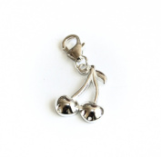 Genuine Silver 925 cherry clip on charm ideal for Thomas Sabo bracelet or necklace
