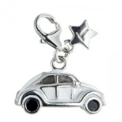 Sterling Silver clip on VW Beetle Car Tingle Charm SCH115
