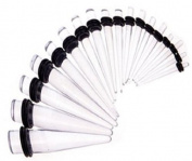 """Clear Tapers / Stretchers / Expanders Acrylic Material (1 Pair) 7/16"""""""