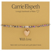 Carrie Elspeth With Love Christmas Sentiment Bracelet Sentiment Stretch Bracelet
