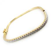 Bangle gold 'Déesse'golden white (2 tones).