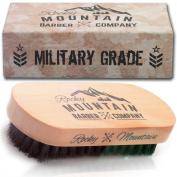 Beard Oil Brush -Desert Storm Military Grade 100% Boar Bristle Professional Style Natural and Soft Brush for Beard Wax, Beard Balm in Giftbox Packaging