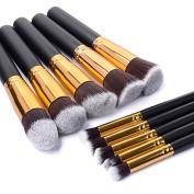 Inviktus Premium Synthetic Kabuki Makeup Brush Set Cosmetics Foundation Blending Blush Eyeliner Face Powder Brush Makeup Brush Kit