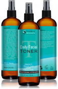 DAILY Facial Toner for All Skin Types - Contains Glycolic Acid, Vitamin C, Witch Hazel and Organic Anti Ageing Ingredients for Sensitive Skin, Combination, Acne, and Even Oily Skin