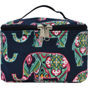 Floral Elephant Print Cosmetic Case