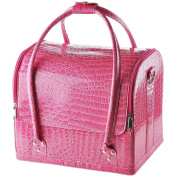 Crocodile Print Soft PVC Makeup Train and Cosmetic Case