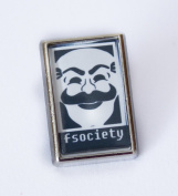 Cool Mr Robot FSociety Lapel/Tie Pin Badge