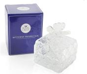Glass Crystal Butterfly Jewellery Trinket Box
