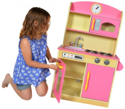 Teamson Kids Bubblegum Deluxe Wooden Kitchen