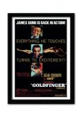 James Bond Goldfinger Excitement A3 Framed Print