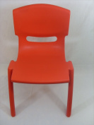 KIDS/CHILDREN EASY STACKABLE PLASTIC CHAIR FOR INDOOR OUTDOOR USE RED NEW