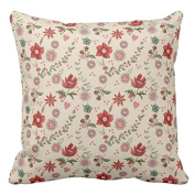 koienOU - Merry Christmas Flowers Pattern - Customise Pillow Cover 46cm x 46cm