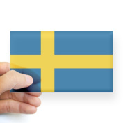 CafePress Sweden Flag Rectangle Sticker Sticker Rectangle - 3x5 Clear