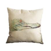 Amybria Cotton Linen Home Decor Throw Sofa Car Cushion Cover Pillow Case Crocodile